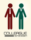 Colleague. Design over  background vector illustration Royalty Free Stock Photos