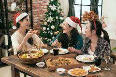 Colleague gathered together for Christmas dinner Royalty Free Stock Images