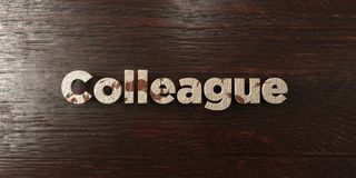 Colleague - grungy wooden headline on Maple  - 3D rendered royalty free stock image Royalty Free Stock Photos