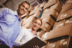 Colleague working together Royalty Free Stock Images