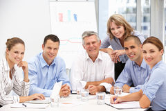 Colleagues in business meeting Stock Photos