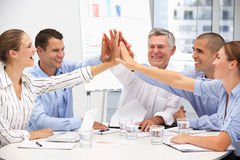 Colleagues in business meeting. At work stock image