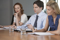 Colleagues At Business Meeting Royalty Free Stock Image
