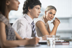 Colleagues At Business Meeting Royalty Free Stock Photography