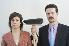 Colleagues cleaning Royalty Free Stock Photography
