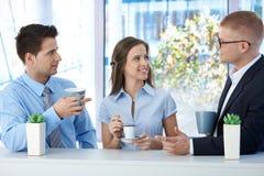 Colleagues on coffee break stock image