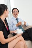 Colleagues at coffee-break Royalty Free Stock Images