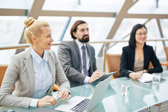 Colleagues at conference Royalty Free Stock Photography