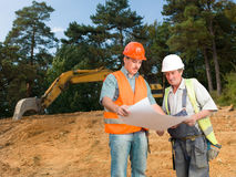 Colleagues on construction site Royalty Free Stock Photography