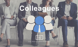 Colleagues Corporate Connection Collaboration Team Concept.  Royalty Free Stock Photo