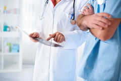 Colleagues doctors on work Royalty Free Stock Photo