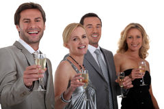 Colleagues drinking champagne Royalty Free Stock Photography