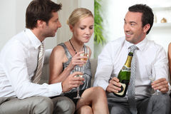 Colleagues drinking champagne Royalty Free Stock Images