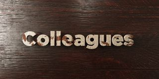 Colleagues - grungy wooden headline on Maple  - 3D rendered royalty free stock image Stock Photo