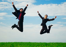 colleagues happy two Стоковые Изображения RF