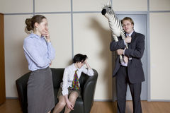 Colleagues have fun. Stock Image