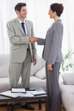 Colleagues having handshake during meeting Stock Images