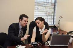 Colleagues Looking At Photos - Horizontal Royalty Free Stock Photo