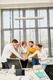 Colleagues making team building exercise royalty free stock photography