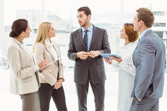 Colleagues in meeting at office Royalty Free Stock Images