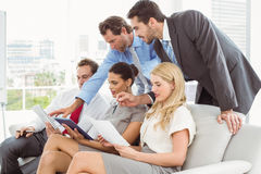 Colleagues in meeting at office Royalty Free Stock Photos