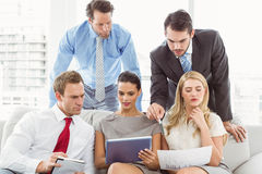 Colleagues in meeting at office Stock Photography