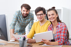 Colleagues in office Royalty Free Stock Image