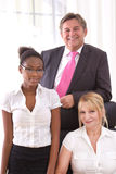 Colleagues in the office - happy teamwork Stock Images