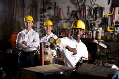 Colleagues in office maintenance area Royalty Free Stock Photography