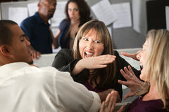 Colleagues Quarrel Royalty Free Stock Images