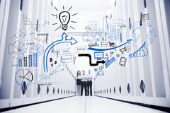 Free Colleagues Standing In A Data Center In Front Of Drawings Stock Photo - 32233660