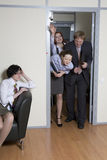 Colleagues struggle in doors Royalty Free Stock Photography