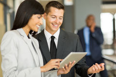 Colleagues tablet pc Royalty Free Stock Images