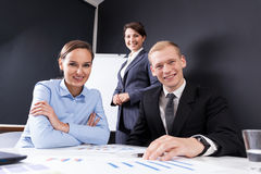 Colleagues in work Royalty Free Stock Photo