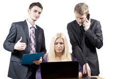Colleagues work together Royalty Free Stock Image