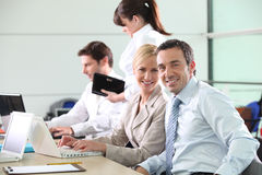 Colleagues working Royalty Free Stock Images