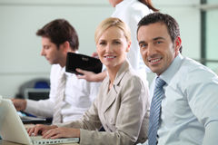 Colleagues working together Stock Photo