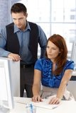 Colleagues working together Stock Photography