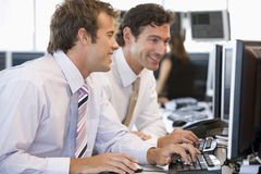 Colleagues Working Together At Computer Royalty Free Stock Photography