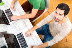 Colleagues working together in the office Stock Images