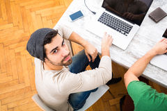Colleagues working together in the office Royalty Free Stock Photo