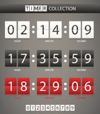 Colleccton of different digital timers Royalty Free Stock Photos