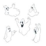 Collecion των εικονιδίων με τα φαντάσματα Στοκ Φωτογραφία