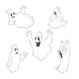 Collecion of icons with ghosts Stock Photography