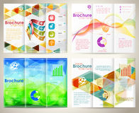 Collect Brochures Design Template Royalty Free Stock Images