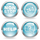 Collect Button with twenty four hours Royalty Free Stock Photo