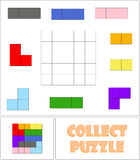 Collect the correct sequence of elements. Collect the correct sequence of colorful elements Royalty Free Stock Photo