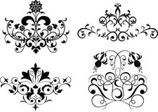 Collect element for design, set flower, vector royalty free illustration
