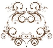 Collect flower border. Element for design, vector illustration Royalty Free Stock Photo