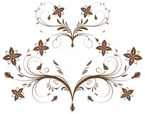 Collect flower border. Element for design, vector illustration Stock Images